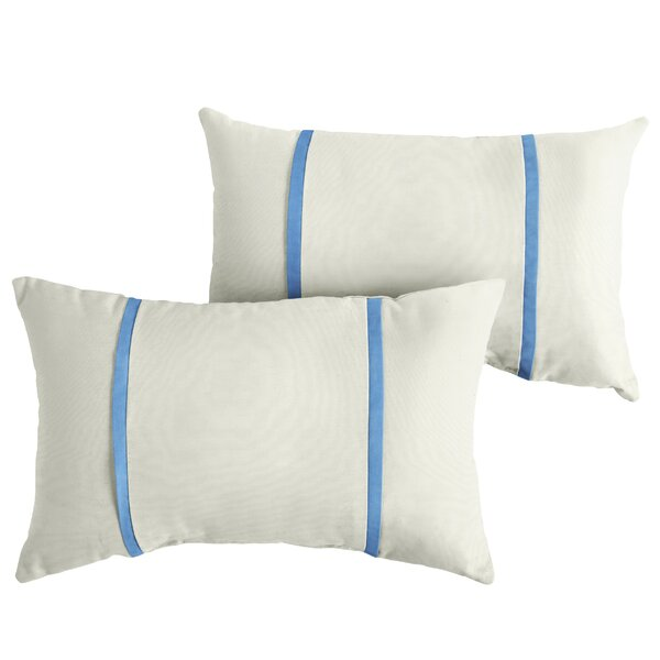 Fogle Indoor/Outdoor Sunbrella Lumbar Pillow (Set of 2) by Charlton Home