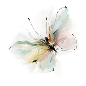 Butterfly Painting Print by Prestige Art Studios