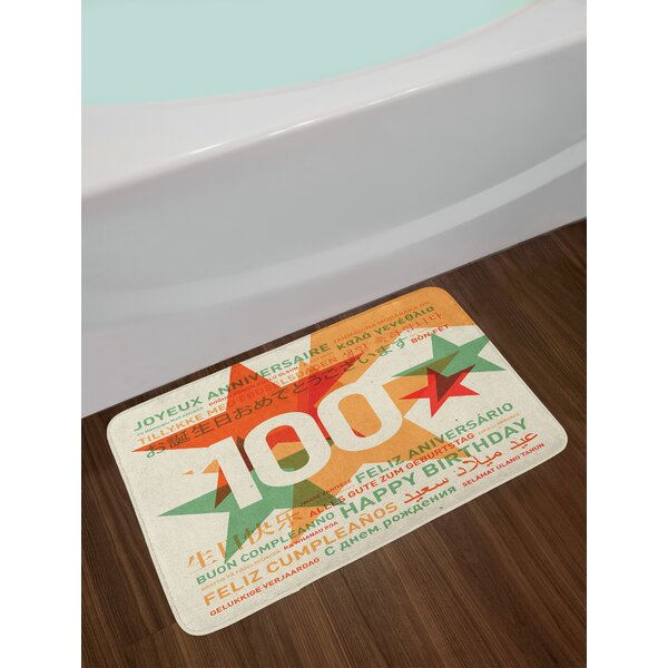 Birthday Pale 100th Birthday Bath Rug by East Urban Home