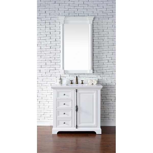Ogallala 36 Single Rectangular Sink Cottage White Bathroom Vanity Set by GreyleighOgallala 36 Single Rectangular Sink Cottage White Bathroom Vanity Set by Greyleigh