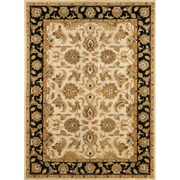 Meadow Breeze Ivory/Black Rug by Continental Rug Company
