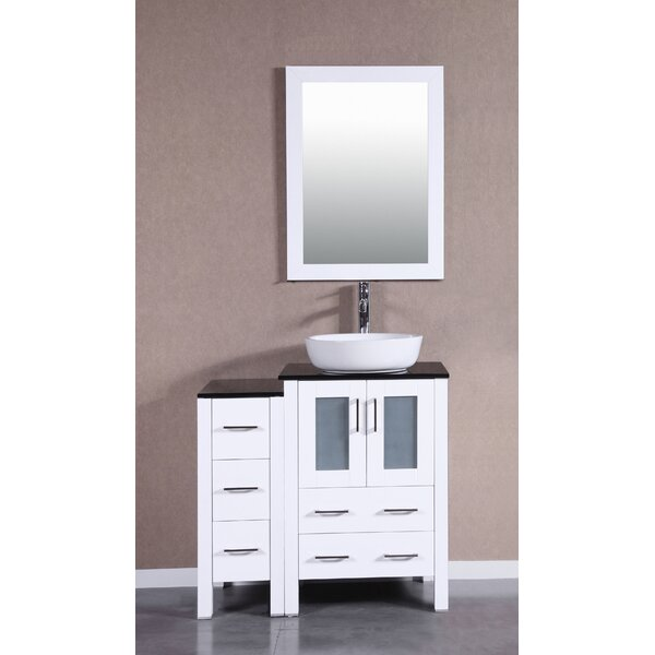 Bella 36 Single Bathroom Vanity Set with Mirror by Bosconi