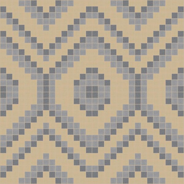Urban Essentials Funky Diamond 3/4 x 3/4 Glass Glossy Mosaic in Urban Khaki by Mosaic Loft