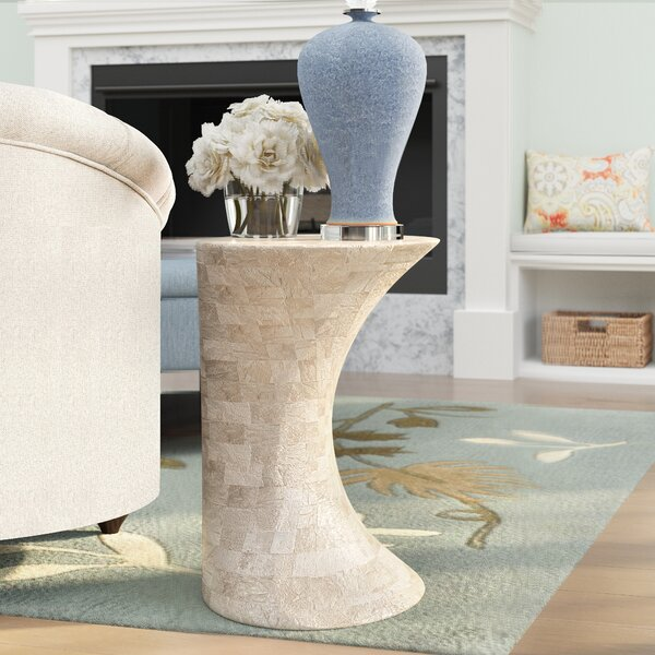 Mulcahy Pedestal End Table by Brayden Studio