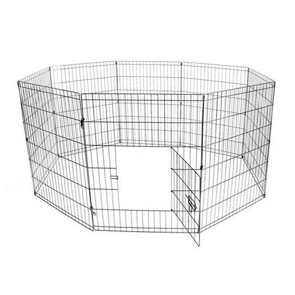 Messner Exercise Cage Fence 8 Panel Pet Pen by Tucker Murphy Pet