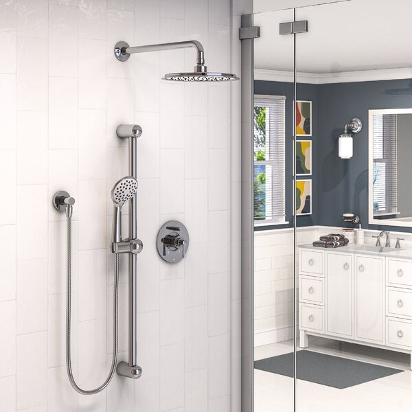 Belanger Pressure Balanced Complete Shower System With Rough-in Valve By Keeney Manufacturing Company