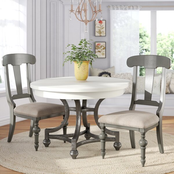 Sandbach Upholstered Dining Chair (Set of 2) by Three Posts