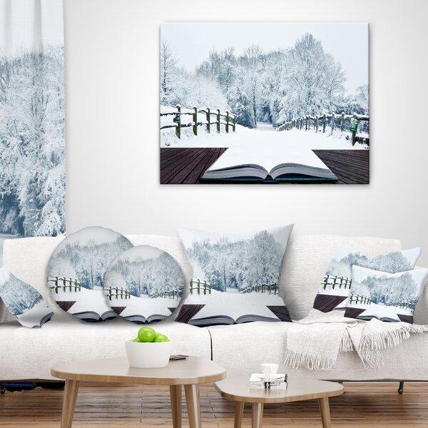 Landscape Winter Wonderland Pillow by East Urban Home