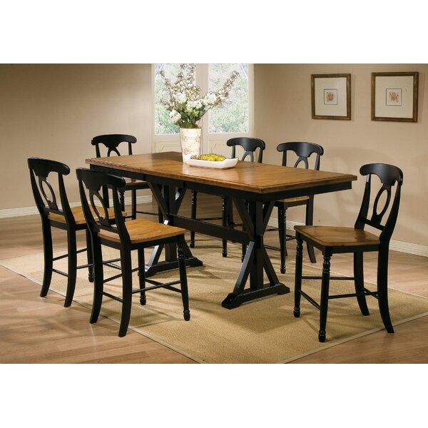 Courtdale 7 Piece Extendable Dining Set by Three Posts
