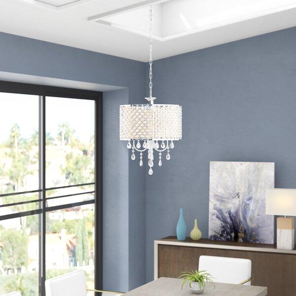 Aldgate 4-Light Crystal Chandelier by Willa Arlo Interiors Willa Arlo Interiors
