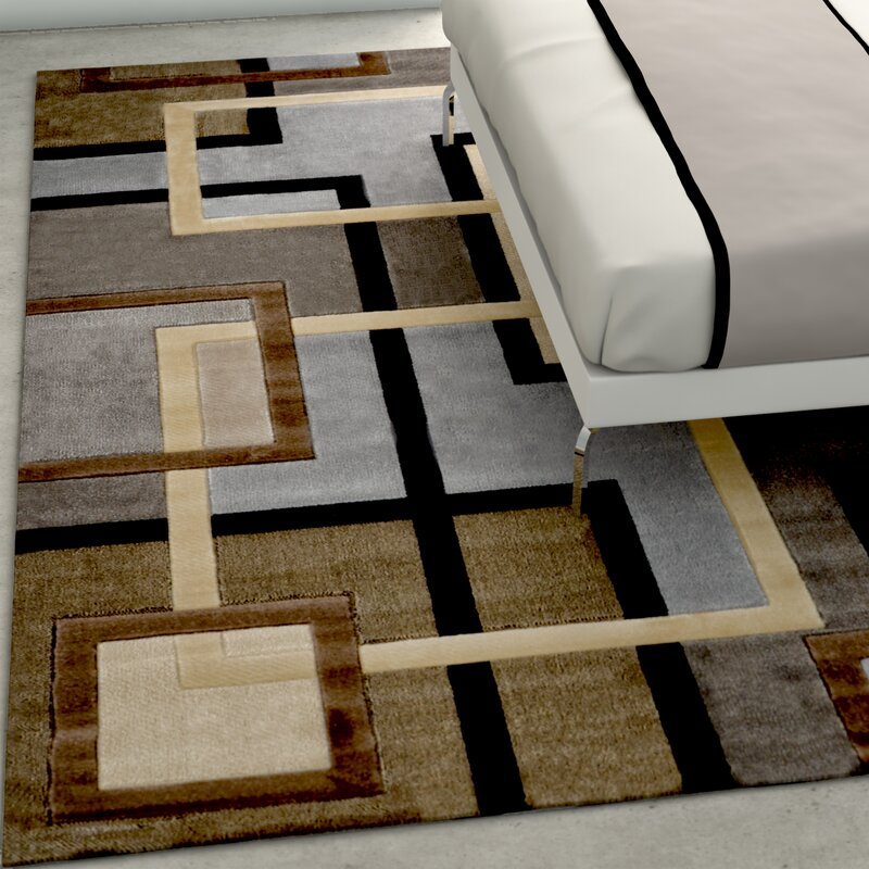 Wade Logan Ezekiel Brown Gray Area Rug Amp Reviews Wayfair