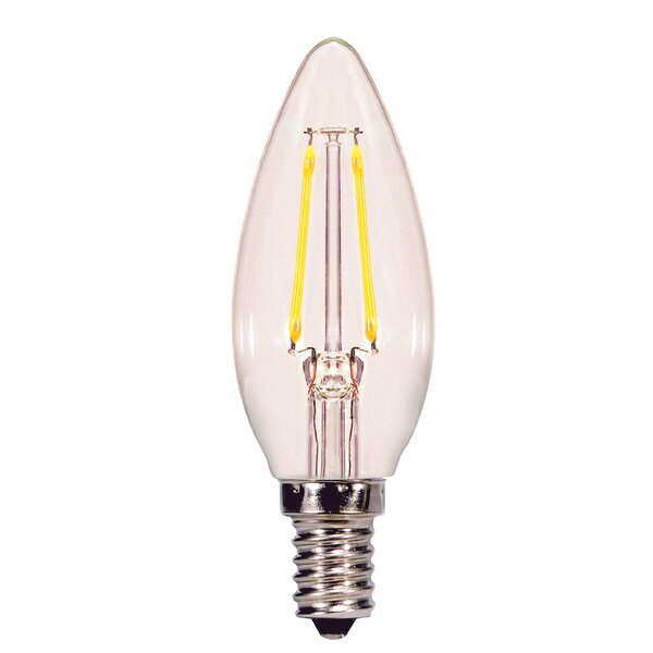 2W E12 DimmableLED Candle Light Bulb by Satco