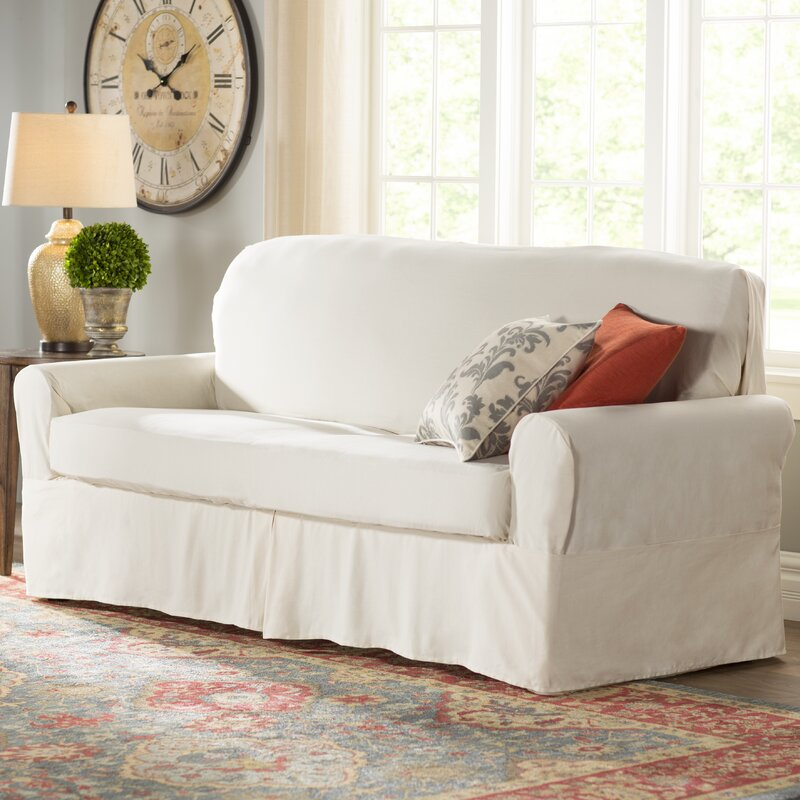 Merveilleux Box Cushion Sofa Slipcover
