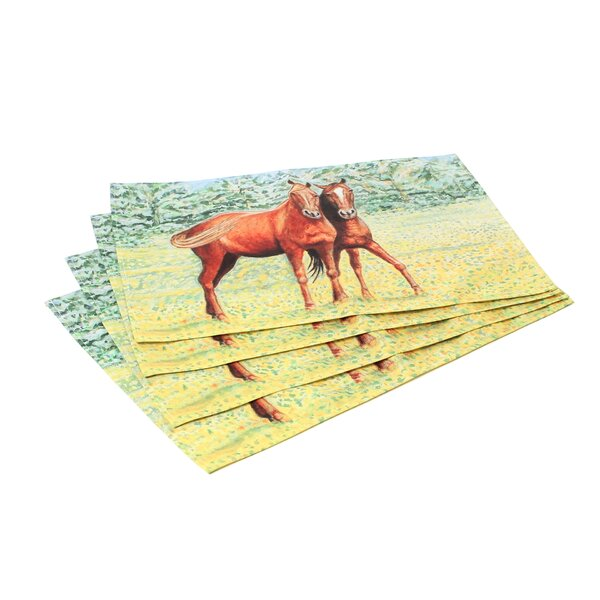 Horses Placemat (Set of 4) by Betsy Drake Interiors