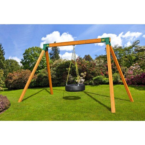 Classic Cedar Tire Swing Set by Eastern Jungle Gym