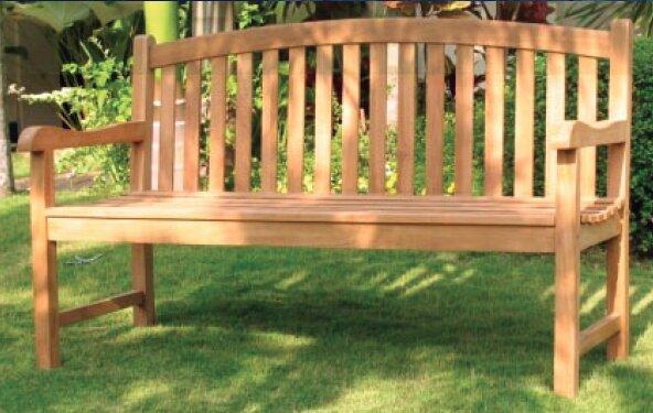 Senecal Teak Garden Bench By Highland Dunes