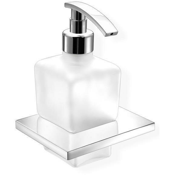 Sorrentino Wall Frosted Glass Soap & Lotion Dispenser by Orren Ellis