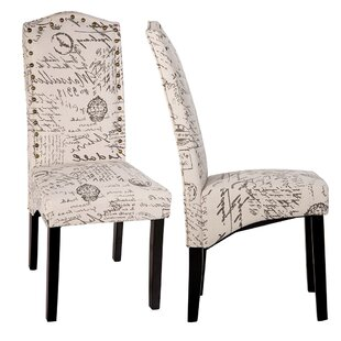 Script Upholstered Dining Chair (Set of 2)  sc 1 st  Wayfair & French Script Dining Chairs | Wayfair