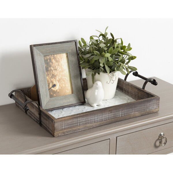 Coral Wood Serving Tray by Gracie Oaks