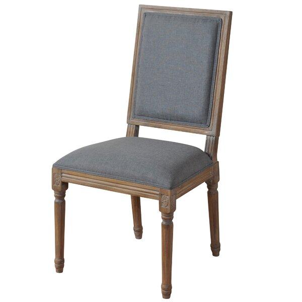 Superbe Straight Back Wooden Chair   Wayfair