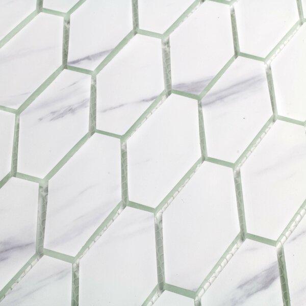 Musico Carrara 2 x 2 Glass Mosaic Tile in White by Abolos