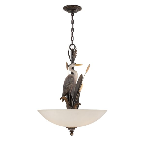 Kaden Heron 3-Light Bowl Pendant by Highland Dunes