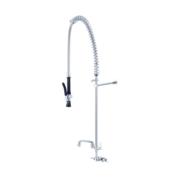 Double Handle Kitchen Faucet with 6 Swivel Tube Spout by Central Brass