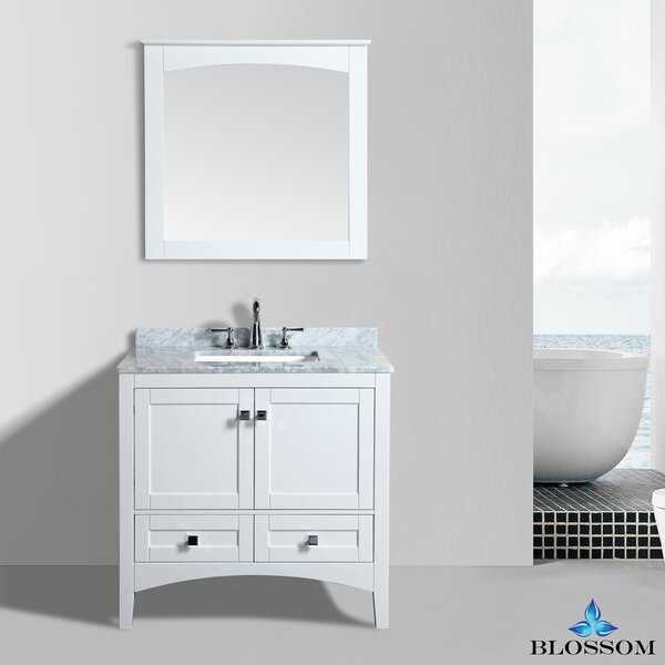 Mance 36 Single Bathroom Vanity Set with Mirror by Orren Ellis