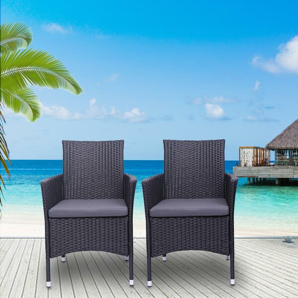 Martina Patio Dining Chair with Cushion by Breakwater Bay
