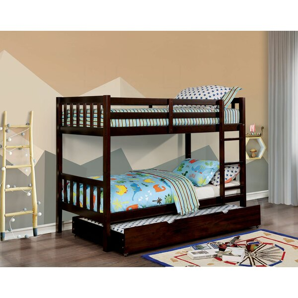 Pavie Twin Over Twin Bunk Bed with Trundle by Harriet Bee