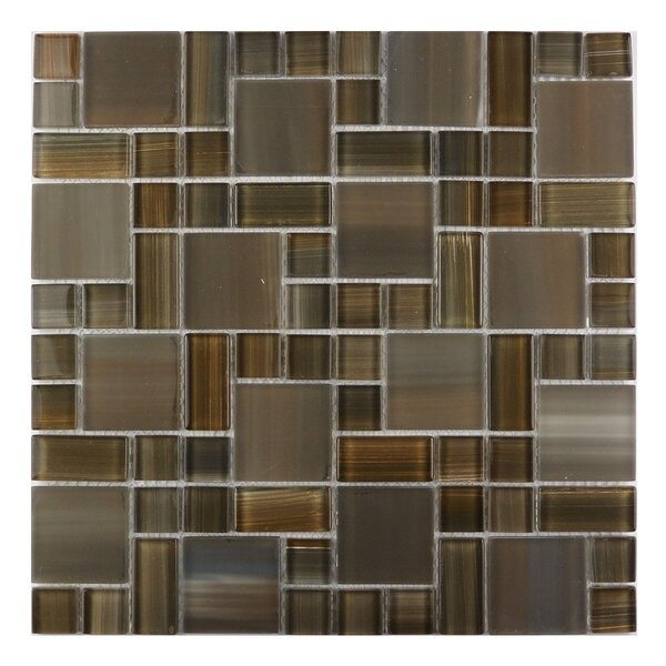 Handicraft II Random Sized Glass Mosaic Tile in Glazed Santa fe by Abolos