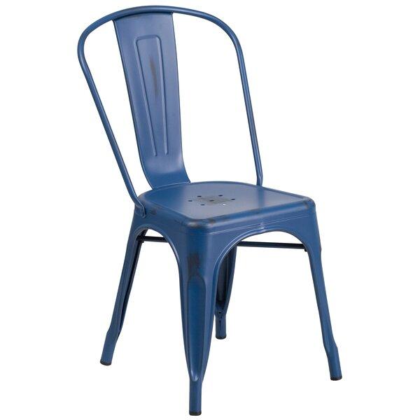 Sutter Metal Stackable Chair by Breakwater Bay Breakwater Bay