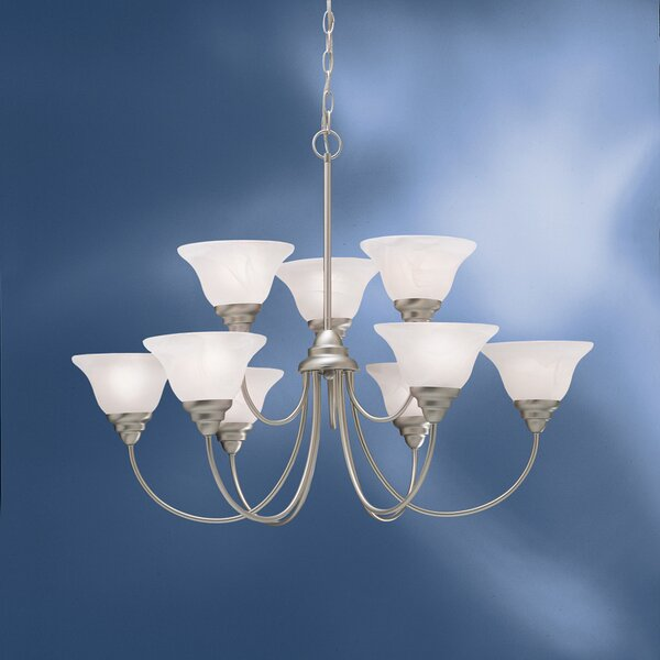 Ruhlman 9-Light Shaded Tiered Chandelier by Red Barrel Studio Red Barrel Studio