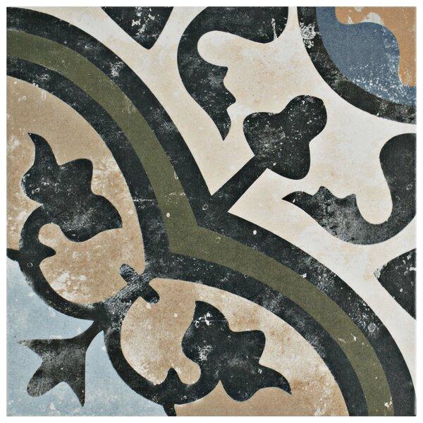 Conceptum 9.75 x 9.75 Porcelain Field Tile in Green/Beige by EliteTile
