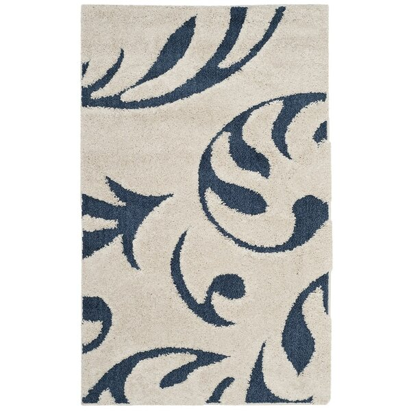Diederich Blue/White Area Rug by Charlton Home