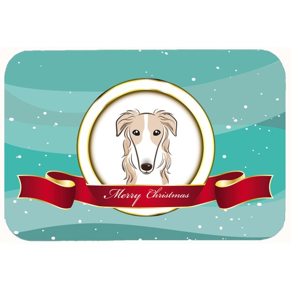 Borzoi Merry Christmas Kitchen/Bath Mat by East Urban Home