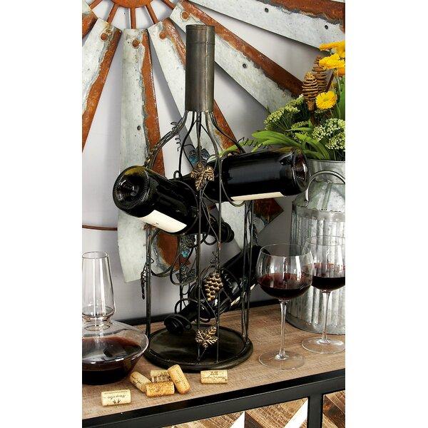 Metal 4 Bottle Tabletop Wine Bottle Rack by Cole & Grey