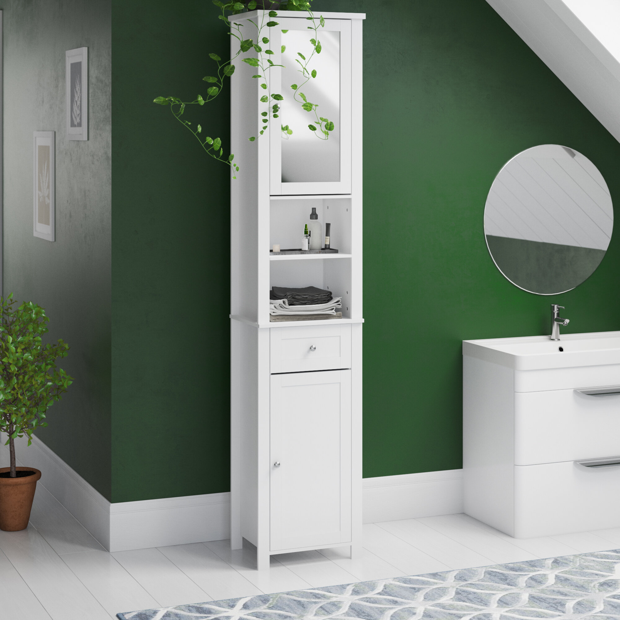 Free Standing Tall Bathroom