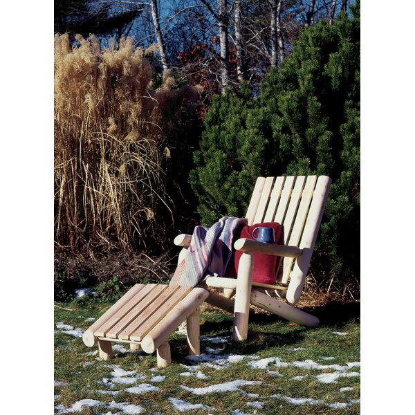 Onderdonk Wood Adirondack Chair with Ottoman by Loon Peak