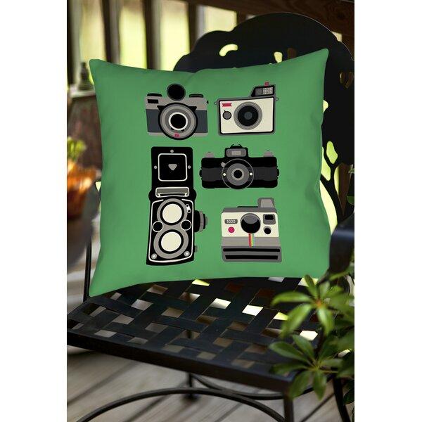 Cameras Indoor/Outdoor Throw Pillow by Manual Woodworkers & Weavers