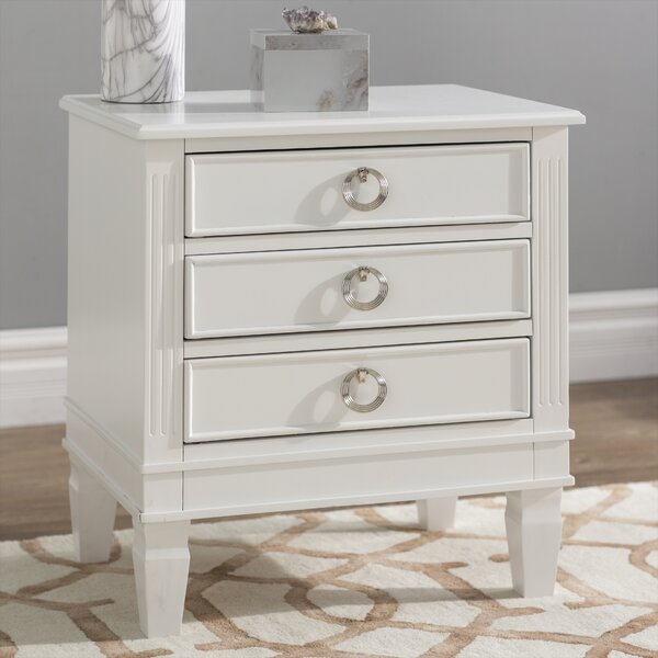 Jose 3 Drawer Nightstand by Langley Street