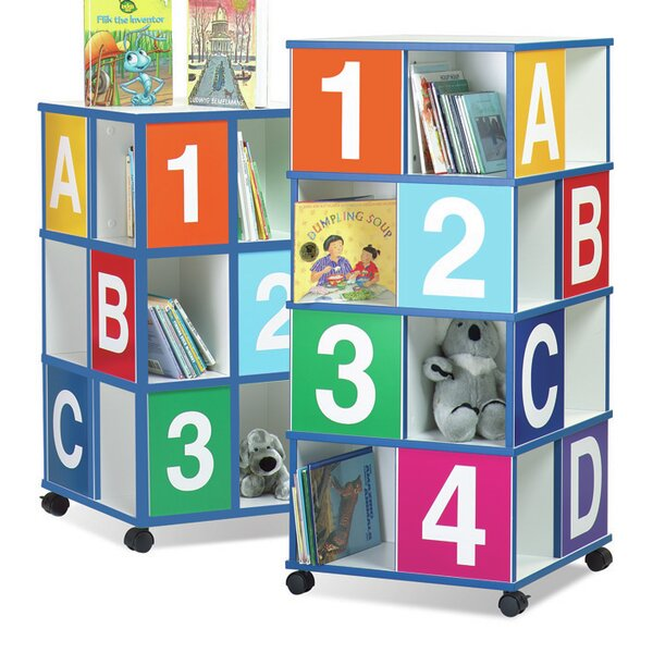 3-Tier ABC/123 40 inch Book Cart by The Childrens Furniture Co.