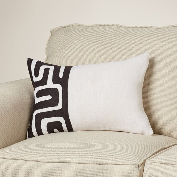 Alona Rectangular Linen Lumbar Pillow by Bloomsbury Market