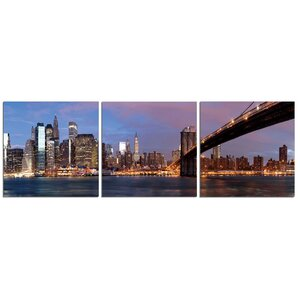'Crossing to NYC' Photographic Print Multi-Piece Image on Canvas by Latitude Run