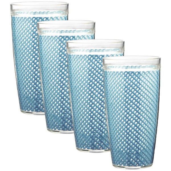 Agnese Doublewall 22 oz. Plastic/Acrylic Every Day Glasses (Set of 4) by Highland Dunes