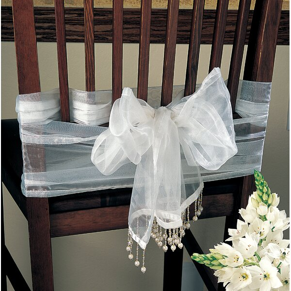 Ellis-McDaniel Versatile Beaded Sheer Organza Runner and Chair Tie by Red Barrel Studio