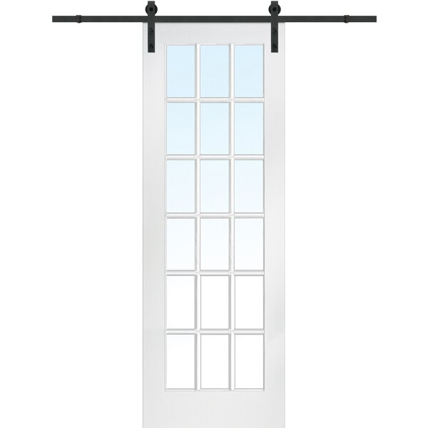 MDF 1-Panel Primed Interior Barn Door by Verona Home Design