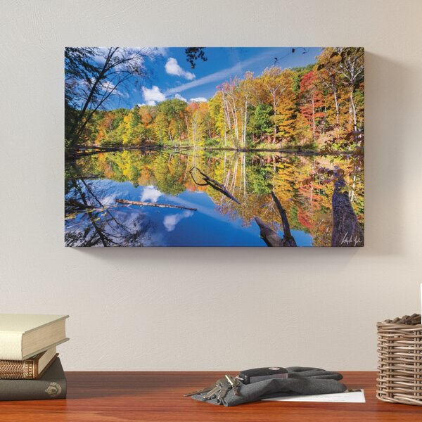 Autumn Reflection 2 Photographic Print on Wrapped Canvas by Loon Peak