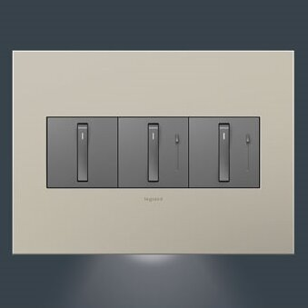 adorne Accent 3 Gang Night Light by Legrand