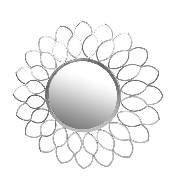 Devaughn Flower Circular Wall Accent Mirror by Everly Quinn